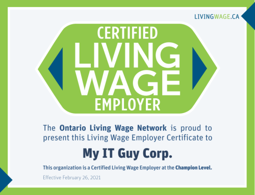 My IT Guy is a Certified Living Wage Employer